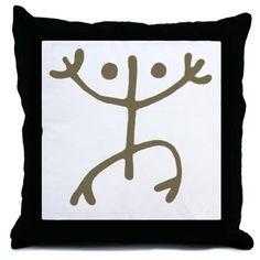 Taino Tribal Frog Art Throw Pillow - July 8 Taino Tattoos, Tribal Symbols, Frog Art, Cool Tattoos, Interesting Tattoos, Throw Pillows, Tattoo Ideas, Fun, Gifts