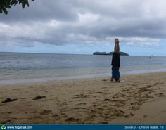 #Yoga Poses Around The World: Headstand taken in Dravuni Island, Fiji by Susan J.