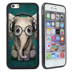 Cute Glasses Elephant Case Cover for iPhone 4 4s 5 5S 5C SE 6 6S Plus 7 Plus  #UnbrandedGeneric