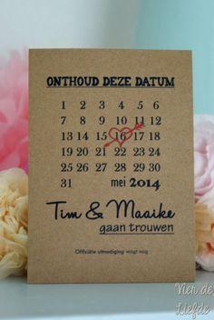 Save the date kaart - Maand