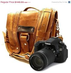 ON SALE - Camera Safari Bag - Serengeti - Full Grain Leather - Hand Crafted - Made in the U.S.A. - Water Resistant