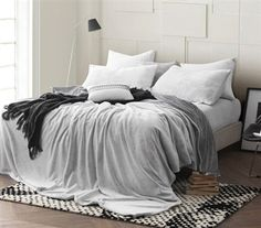 gray super soft blanket feel sheet set, dorm room bedding, dorm sheet set, twin xl