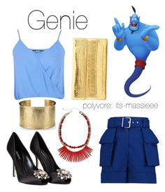 """""""Genie"""" by its-massieee ❤ liked on Polyvore featuring Alexander McQueen, Miss Selfridge, Mixit, Dolce&Gabbana, Blue Nile and Nancy Gonzalez"""