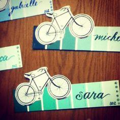 Bicycle paint chip door decs ( #decor #decs #dec #name #tag #ra #dorm #reslife)