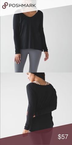 Lululemon flip your dog long sleeve II Super soft great for working out worn once lululemon athletica Tops Tees - Long Sleeve