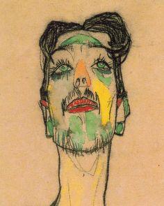 Mime van Osen portrait, 1910 (detail) // Egon Schiele