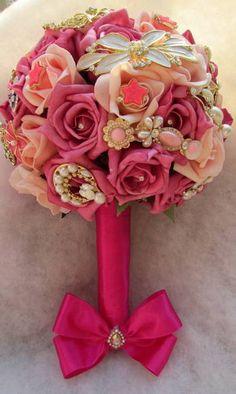 *lindo Bouquet de broches estilo vintage*