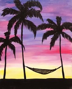 """July 2016 Featured Painting: """"Palm Beach Hammock"""" by Southern California artist Ashlee Merchant."""