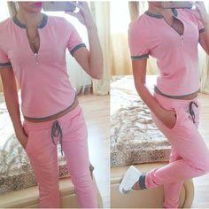 Short Sleeves Sports Casual Hoodie Set