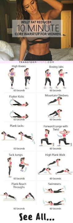 BELLY FAT REDUCER 10 MINUTE CORE WARM UP@@