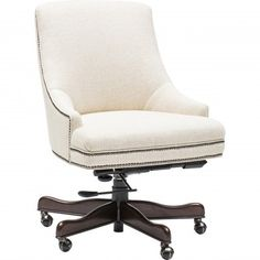 Francis Executive Swivel Chair, Chateau Linen - Furniture - Office - Chairs