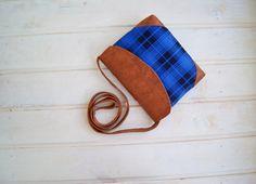 Square Cross Body Bag Dark Blue / Vegan Crossbody bag / Canvas and Leather / Messanger bag / Shoulder bag / Clutch purse / Small Bag by RabbitLia on Etsy