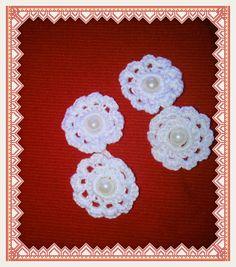 Botones gemelos a crochet para puños camisa