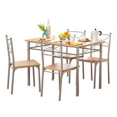 cet ensemble table et quatre chaises est idal pour votre cuisine ou salle manger