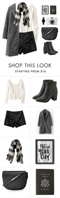 """""""Winter Wanderlust"""" by sweetpastelady ❤ liked on Polyvore featuring American Eagle Outfitters, Americanflat, Topshop and Smythson"""