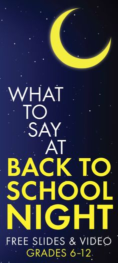 Be ready for this year's Back to School Night with these FREE materials and advice. Built for the middle school and high school English teacher.