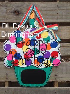 Happy Birthday gender Neutral Cupcake door by DLDesignsBirmingham