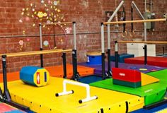 One of my kids better do gymnastics so i can have this room!