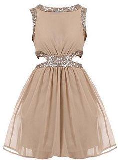 sparkly nude dress