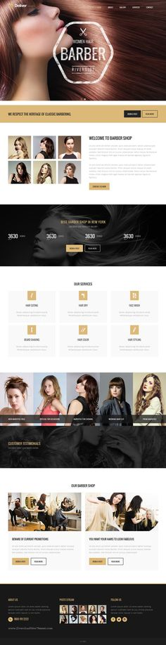 Deliver is high quality multipurpose Bootstrap HTML #template with 20 stunning homepage layouts and 180 HTML pages. #barber #hairstyle Download Now!