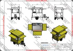 Trailer Plans, Food Trailer, Floor Plans, How To Plan, Trailers, Ideas, Adhesive, Dibujo, Hang Tags