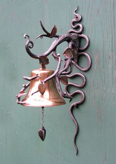Love the detail in the leaves - blacksmith bell