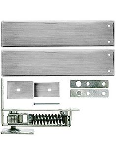 Double Action Floor Hinge. Standard Duty Swinging Door Floor Hinge With Plated-Steel Cover Plates