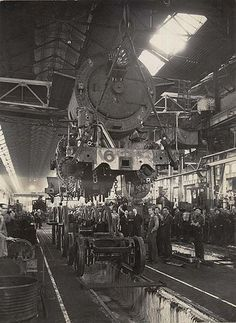 Construction of C3806 locomotive at the Eveleigh Workshops. Dated: 16 April 1945. Digital ID: 17420_a014_a014000195 Rights: www.records.nsw.gov.au/about-us/rights-and-permissions