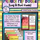 Phonics Flip Books {Long  Short Vowels} will be a great addition to your literacy curriculum! Children will identify long and short vowel sounds  $