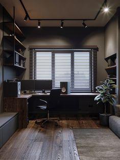 Small room design – Home Decor Interior Designs Small Room Design, Home Room Design, House Design, Design Homes, Studio Design, Design Bedroom, Home Office Setup, Home Office Space, Desk Setup