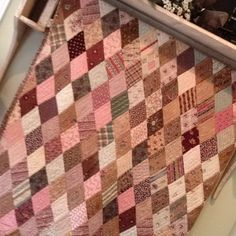 Antique quilt - love the pinks and browns