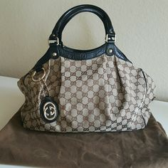 GUCCI SUKEY Excellent condition I would consider it like new. Black trim Medium. Gucci Bags