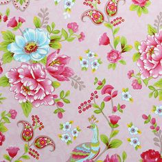 Pip Studio - Flowers in the Mix Wallpaper - 313053 Pink
