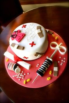 nurse cake......I can't stop pinning these, I want one really really bad!!