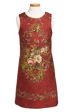 If i won the lottery!! Dolce&Gabbana Sleeveless Floral Print Dress (Little Girls & Big Girls) at Nordstrom.com. An ornate flower-and-key print elevates a sleeveless shift dress styled with a round neckline and a hidden back-zip closure.