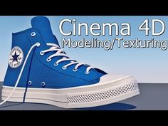 Cinema 4D shoes Modeling / texturing (converse all star chuck taylor 2) + Project File - YouTube