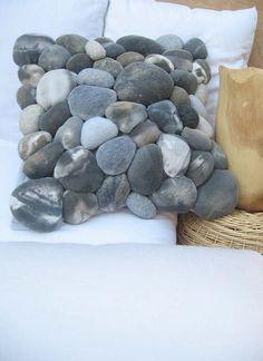 Reserve for Zorro8 polyester fleece, polyfill fiber, velcro, cotton knit jersey, fabric paint, thread ROCK PILLOW