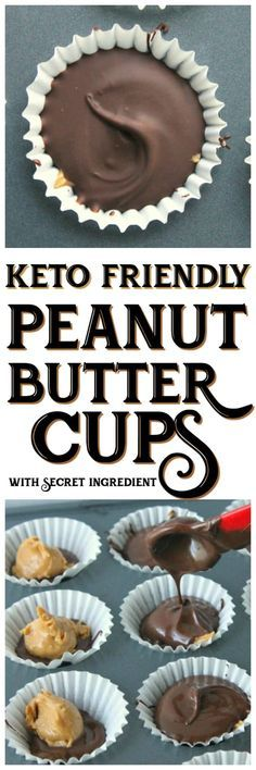This delicious and simple Keto friendly peanut butter cups recipe will cure your sweet tooth! This delicious and simple Keto friendly peanut butter cups recipe will cure your sweet tooth! Keto Fat, Low Carb Keto, Low Carb Recipes, Vegan Keto, Keto Vs Paleo, Easter Keto Recipes, Easy Recipes, Paleo Keto Recipes, Vegetarian Keto