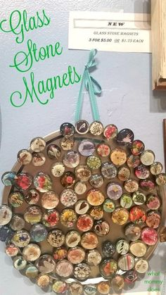 I can't get enough of these GLASS STONE MAGNETS! They're the perfect DIY craft to make and sell at flea markets or craft fairs. Part of my series on ways to make extra money and the post 50+ Crafts to Make and Sell at Crafts Fairs and Flea Markets! Check it out for a great list of things to make and sell…simple, easy ideas anyone can do, even teens and kids!