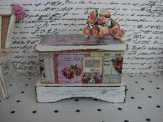 Dollhouse Miniature Shabby Chic French by IttyBittyAndCute on Etsy, $17.05