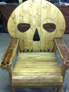 SKULL chair Homemade  Skull chair ... Made from select Fir Pine and & SKULL CHAIR  PATTERN  plans only-------adirondack chair yard ...