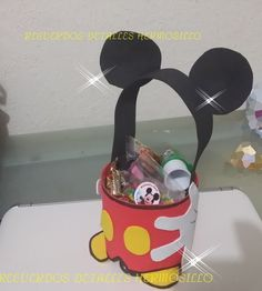 DIY Como Hacer Dulcero Micke Mouse Con Botella Pet