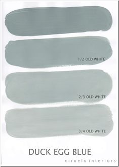 Chalk Paint® decorative paint by Annie Sloan ~ Duck Egg Blue with varying amounts of Old White