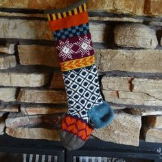 A star pattern used on this Christmas stocking!