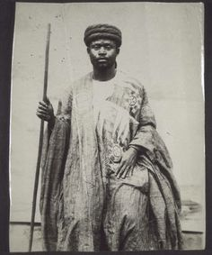 Early 20th c. A Hausa in northern Ghana with turban and embroidered dress. :: International Mission Photography Archive, ca.1860-ca.1960