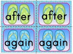 {BUNDLED SET} FLIP FLOP SIGHT WORD MEMORY GAMES: 5 SETS INCLUDED-220 DOLCH WORDS - TeachersPayTeache...