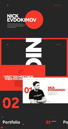 Nick Evdokimov on Behance #WebSiteDesign