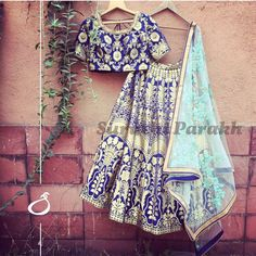 We are so fond of banarasi silk and its innate royal and splendid allure! We have paired this gorgeous hand woven silk lehenga with such a beautiful light blue and gold embroidered net dupatta! This combination is so unique and refreshing you will surely get plenty of compliments!For enquiry whatsapp on +919537165033We ship worldwide. newcollection banarasi silk different indianwear wedding weddingwear bridal bridetobe bridesmaid instabride instalove instadaily beautiful amazing