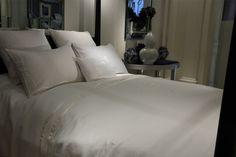 Wallis Bed Set  Silk Application  on  Linen