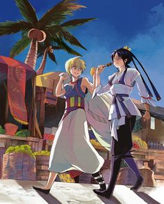Tags: Anime, Pixiv, MAGI: The Labyrinth of Magic, Ali Baba Saluja, Ren Hakuryuu